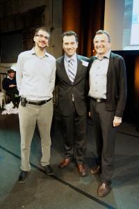Fábio F. Nunes com Alex Osterwalder e Yves Pigneur em Viena.